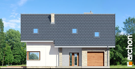 Elewacja frontowa projekt dom w brunerach  264