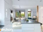 projekt Dom w brunerach Wizualizacja kuchni 1 widok 3