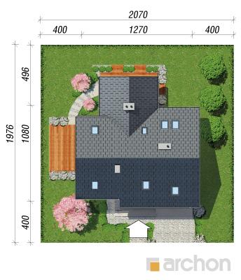 projekt Dom w brunerach sytuacja