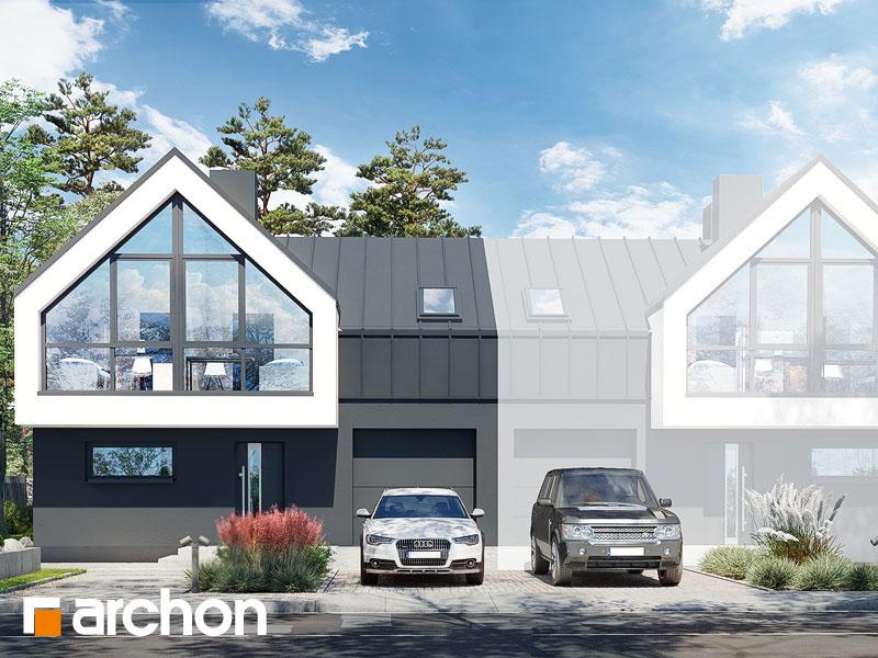 gotowy projekt Dom w muszkatach 2 (B) widok 1