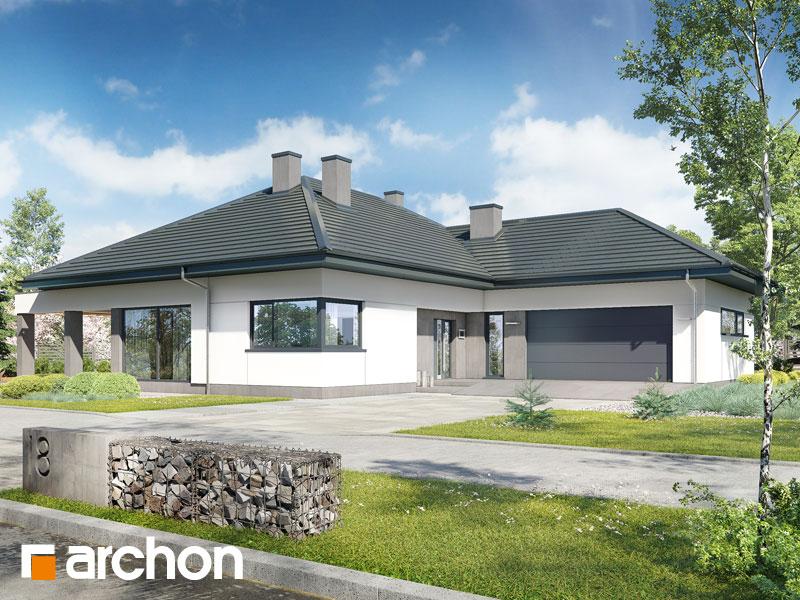 gotowy projekt Dom w przebiśniegach 8 (G2) widok 1