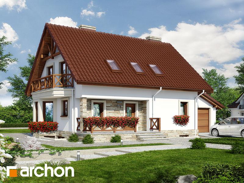 gotowy projekt Dom w dziewannie 2 (P) widok 1