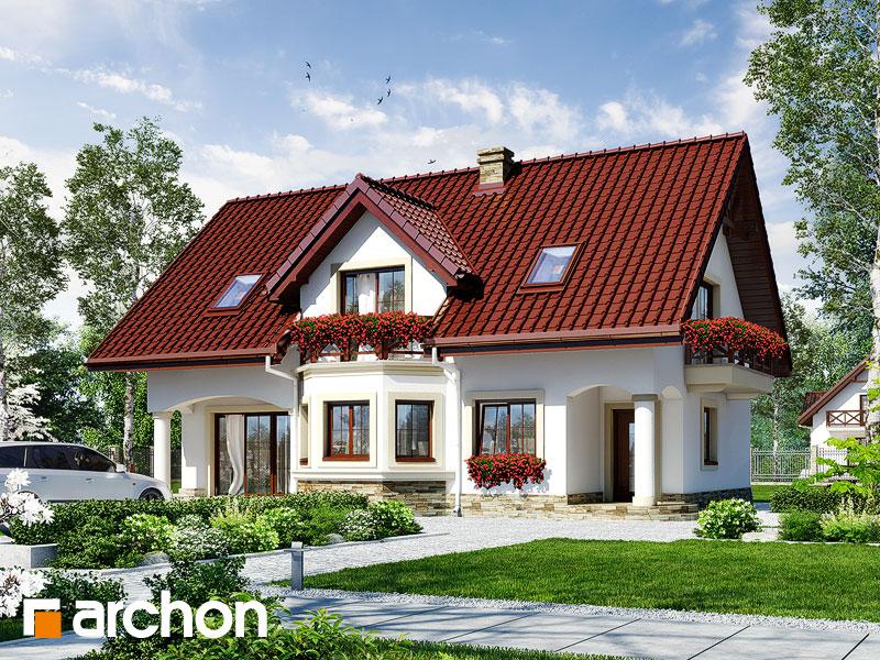 gotowy projekt Dom w majeranku 2 widok 1