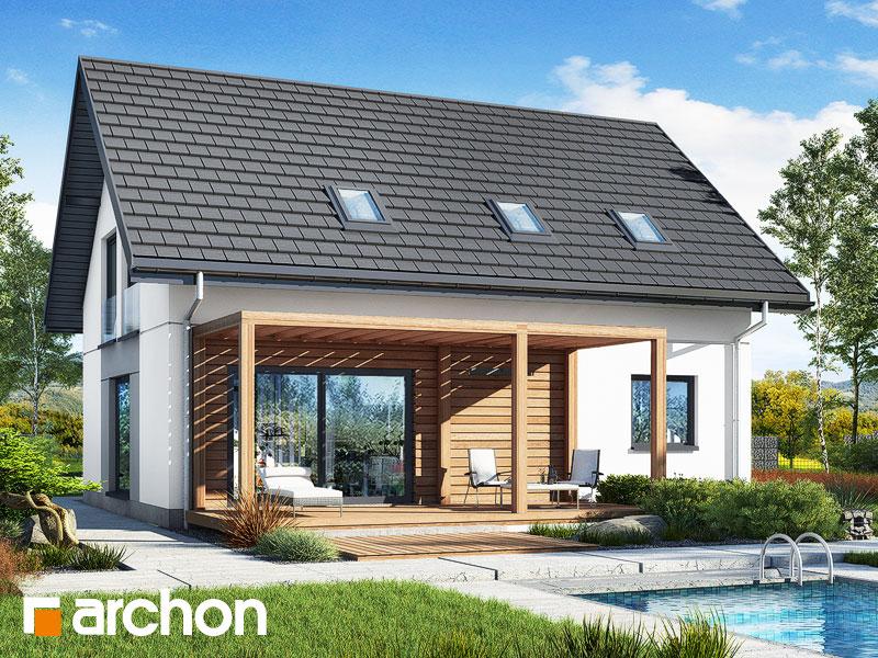 gotowy projekt Dom w zielistkach 16 widok 1