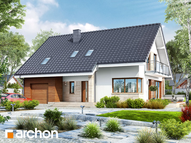 gotowy projekt Dom w idaredach (A) widok 1