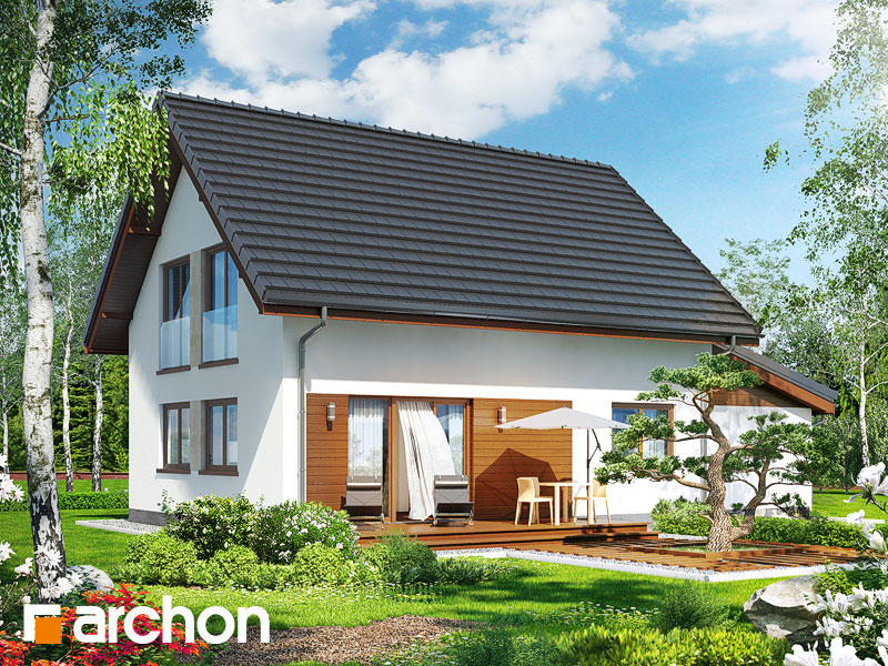 gotowy projekt Dom w zielistkach (GT) widok 2