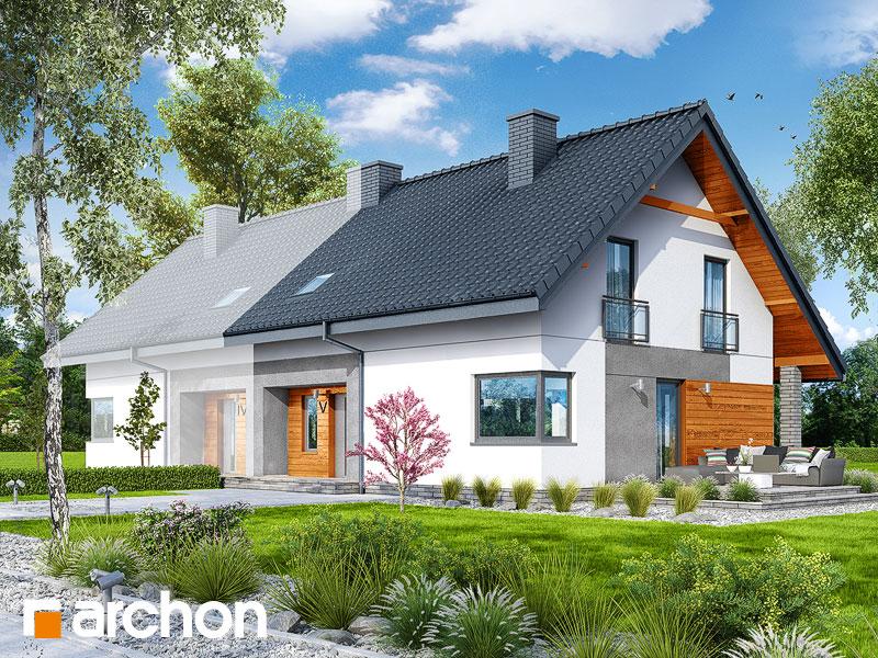 gotowy projekt Dom w malinówkach 2 (B) widok 1