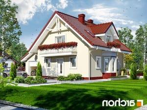 projekt Dom w rododendronach 4 lustrzane odbicie 1