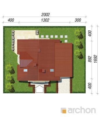 projekt Dom w rododendronach 4 sytuacja