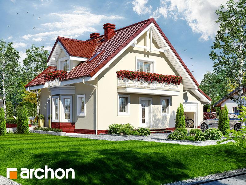 projekt Dom w rododendronach 4 widok 1
