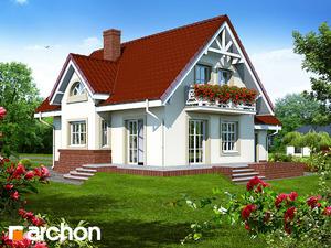 projekt Dom w morelach widok 2
