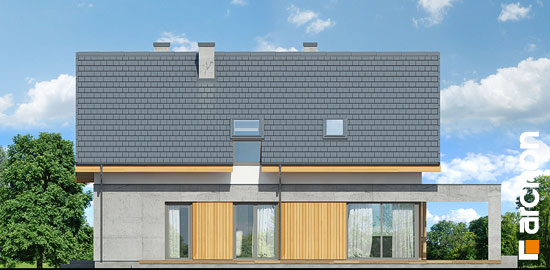 Elewacja ogrodowa projekt dom w wiosnowkach  267