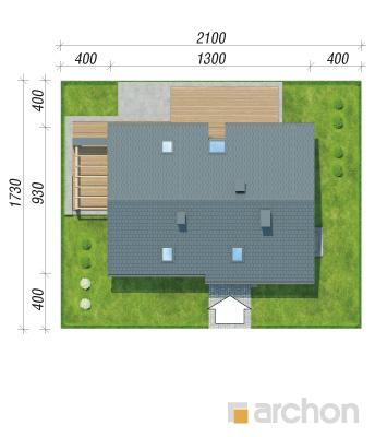 projekt Dom w wiosnówkach sytuacja
