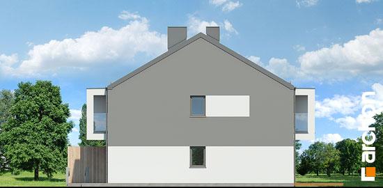 Elewacja boczna projekt dom przy trakcie  265