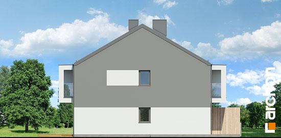 Elewacja boczna projekt dom przy trakcie  266