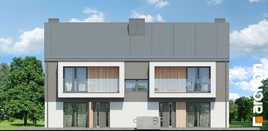 Elewacja frontowa projekt dom przy trakcie  264