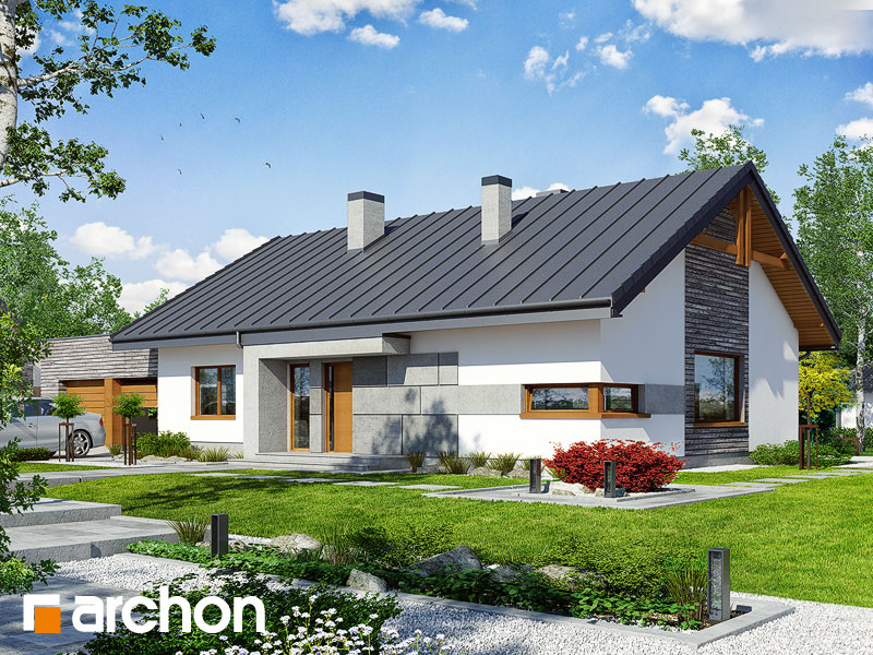 gotowy projekt Dom pod jarząbem 8 (G2N) widok 1