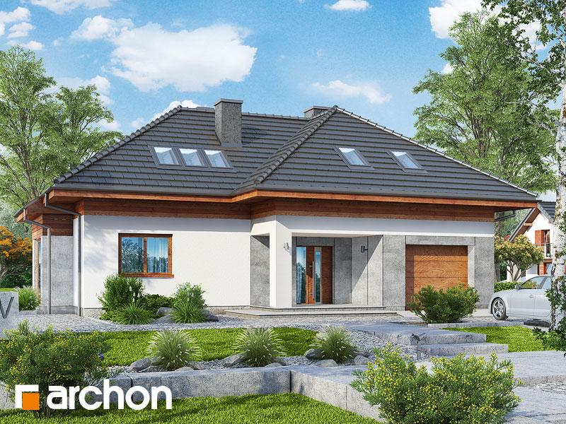 gotowy projekt Dom w zarzyczkach widok 1