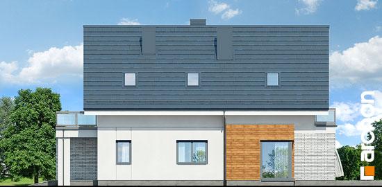 Elewacja boczna projekt dom we floksach 2 p  265