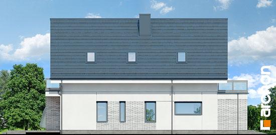 Elewacja boczna projekt dom we floksach 2 p  266
