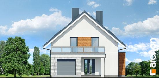 Elewacja frontowa projekt dom we floksach 2 p  264