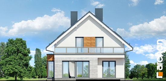 Elewacja ogrodowa projekt dom we floksach 2 p  267