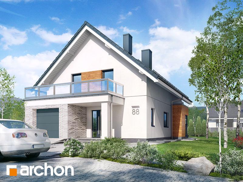 gotowy projekt Dom we floksach 2 (P) widok 1