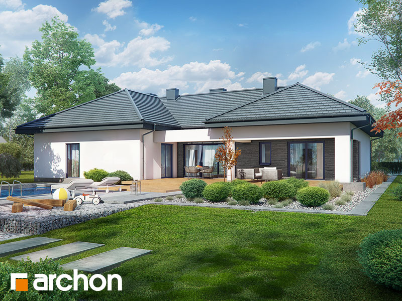 gotowy projekt Dom w śnieżnikach (G2R2) widok 1