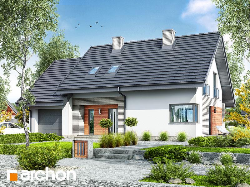 gotowy projekt Dom w malinówkach 3 (T) widok 1
