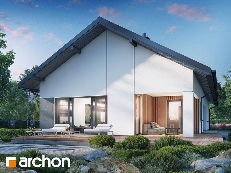 gotowy projekt Dom w mahoniach widok 1