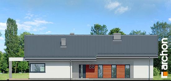 Elewacja frontowa projekt dom w peperomiach 4  264