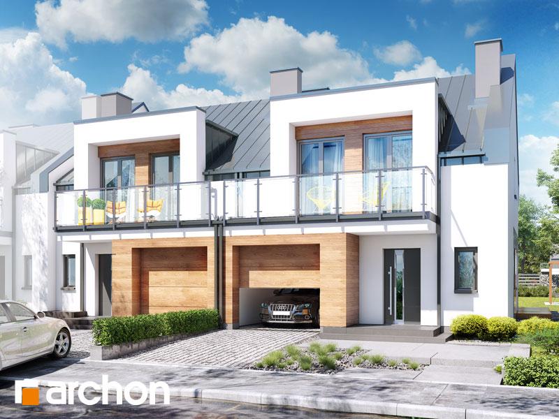 gotowy projekt Dom w klematisach 25 (R2B) widok 1