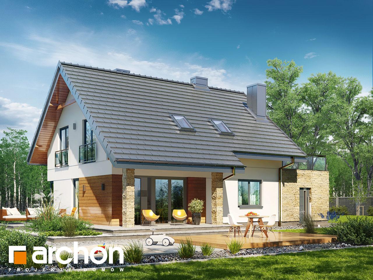 projekt domu dom w malin wkach g archon. Black Bedroom Furniture Sets. Home Design Ideas