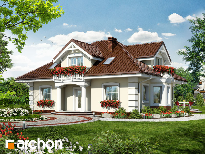 gotowy projekt Dom w jeżówkach widok 1