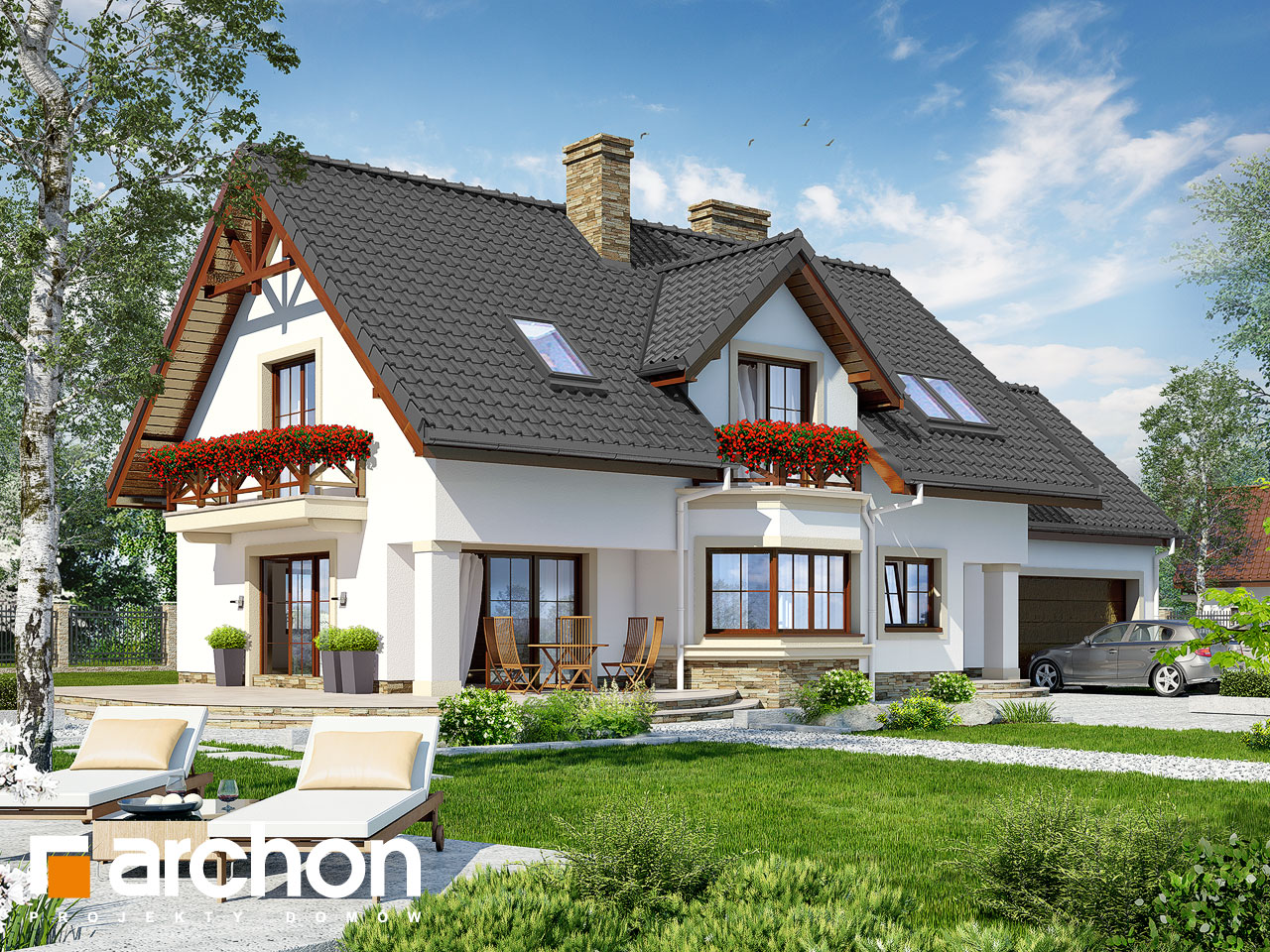 Projekt domu Dom w majeranku 2 (G2) - ARCHON+