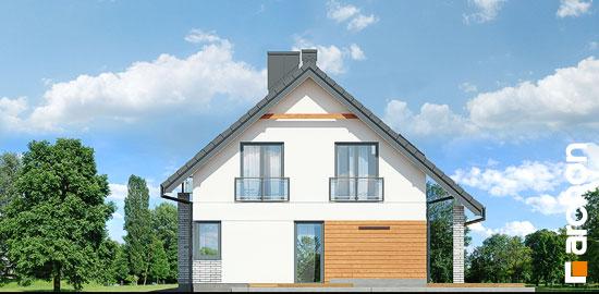 Elewacja boczna projekt dom w malinowkach g2p  265