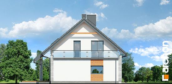 Elewacja boczna projekt dom w malinowkach g2p  266