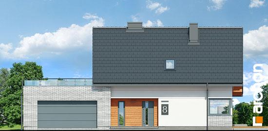 Elewacja frontowa projekt dom w malinowkach g2p  264