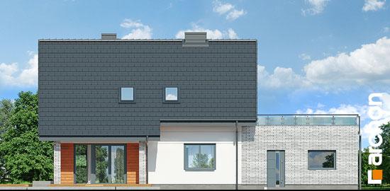Elewacja ogrodowa projekt dom w malinowkach g2p  267