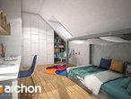 projekt Dom w malinówkach (G2P) Strefa nocna (wizualizacja 2 widok 3)
