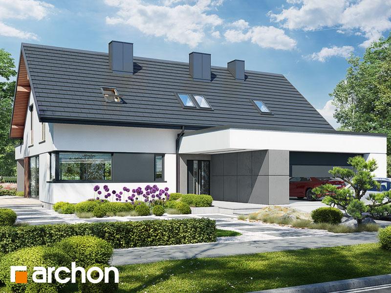 gotowy projekt Dom w przebiśniegach 15 (G2) widok 2