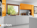 projekt Dom w wisteriach 5 (G2) Wizualizacja kuchni 1 widok 2