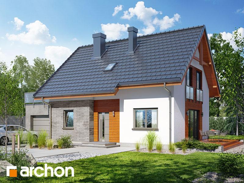 gotowy projekt Dom w zielistkach (GNT) widok 1