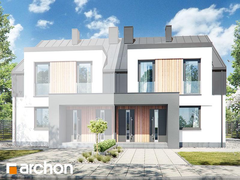 gotowy projekt Dom w bratkach 7 (R2B) widok 2