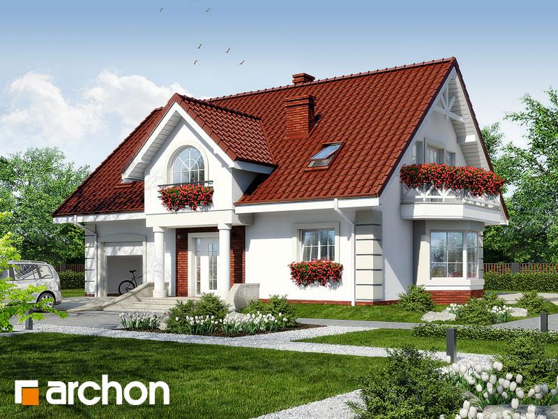 gotowy projekt Dom w glicyniach 2 widok 1