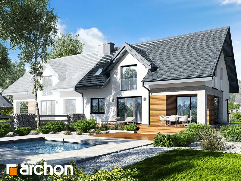 gotowy projekt Dom w srebrzykach 3 (B) widok 1
