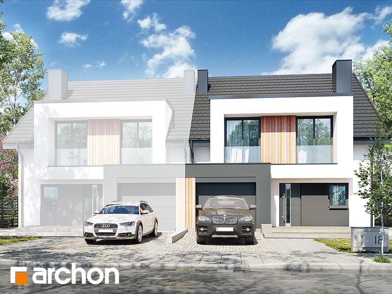 gotowy projekt Dom w klematisach 29 (BA) widok 2