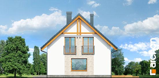 Elewacja boczna projekt dom w zielistkach 6 pt  265