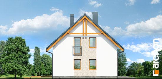 Elewacja boczna projekt dom w zielistkach 6 pt  266