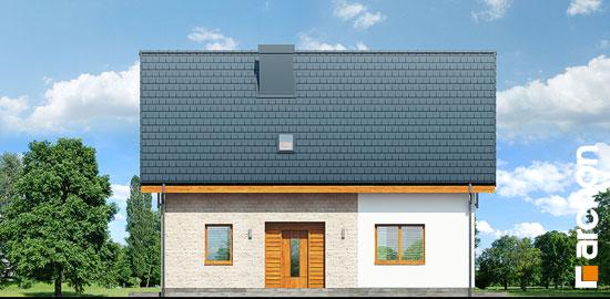 Elewacja frontowa projekt dom w zielistkach 6 pt  264